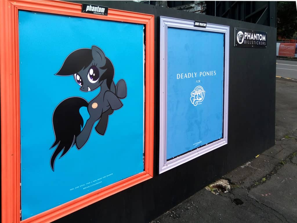deadly ponies creative install interactive media out of home