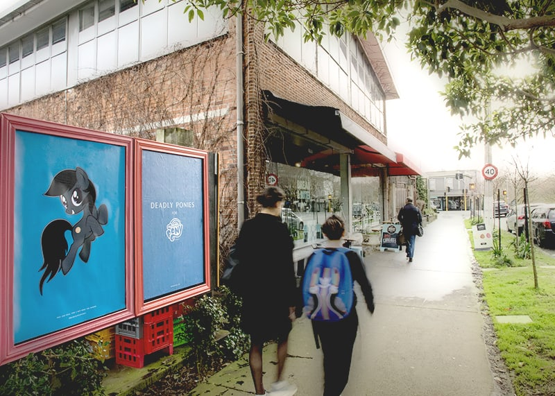 Deadly ponies ponsonby central out of home new zealand branding