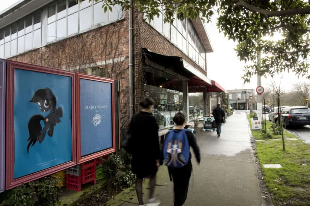 Deadly Ponies street posters interactive media creative installs street posters